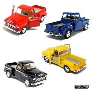 Set of 4 die cast Chevy Stepside Pick Up 1/32 Scale, Pull