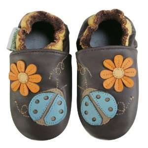Momo Baby Soft Sole Baby Shoes   Ladybug Brown 18 24