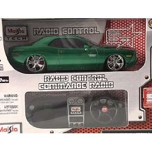 Green 2006 Dodge Challenger Concept Remote Control Car Toys & Games