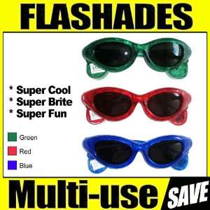 Shades Glow Glasses Aviator Party Rave Club Retro