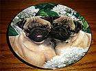 pug love pugs simon mendez puppy dog danbury mint puppy