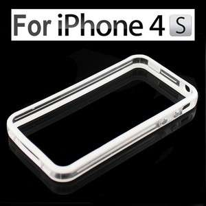 Bumper Frame TPU Silicone Case for iPhone 4S CDMA 4G W/Side Button