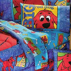 nEw CLIFFORD Red DOG Bedding BEDSKIRT RUFFLES Bed Skirt