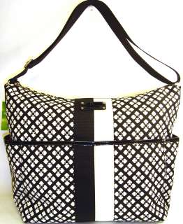 Kate Spade Serena Baby Bag tote purse NWT $348 Classic black white