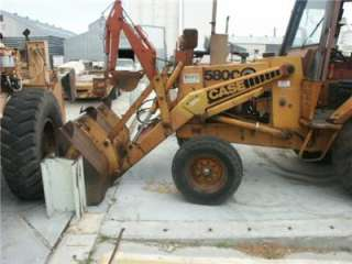 CASE 580C BACKHOE LOADER EXCAVATOR THUMB RANCH OR FARM TRACTOR LOW