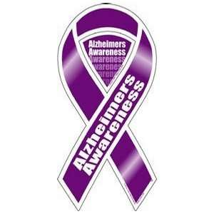Alzheimers Awareness 2 in 1 Ribbon Magnet Automotive