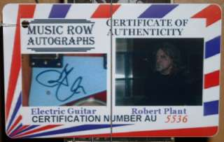 ROBERT PLANT Signed Autograph Electric COA Guitar LED ZEPPELIN