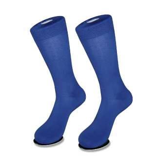 Pair of Antonio Ricci ROYAL BLUE Mens COTTON Dress SOCKS NEW