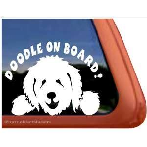 Doodle On Board Vinyl Window Dog Decal Sticker Automotive
