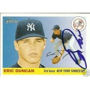 Eric Duncan Signed Yankees 2004 Topps Heritage Card