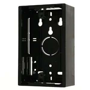 Surface Mount Backbox, Single Gang, Black, Box Depth Is 1.89 Inches
