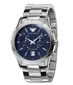Emporio Armani Mens AR0583 Bracelet Blue Dial Watch