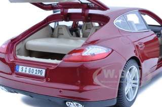 2011 PORSCHE PANAMERA TURBO DARK RED 118 MODEL CAR