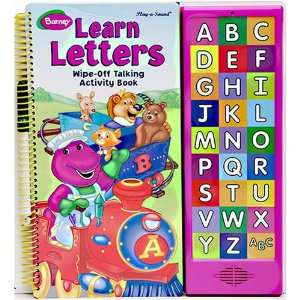 Barney Learn Letters Wipe off Talking Activity Set Toys