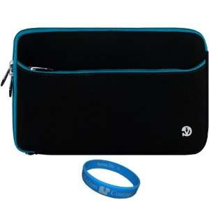 Blue Trim Neoprene Sleeve Carrying Case Cover for AT&T Pantech Element