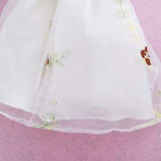 Princess Wedding Bridal Mini Dress Gown Skirt Party Clothes For Barbie
