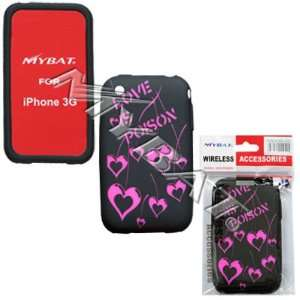 Iphone 3G Love Poison (Hot Pink/ Black) Laser Skin Case