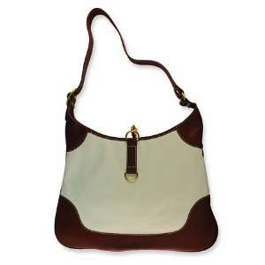 & Leather Hobo Handbag Jackie Kennedy Purse GEMaffair Jewelry