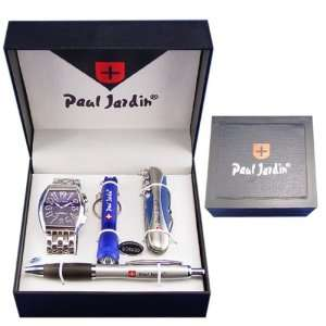 Wonderful Paul Jardin Mens Watch Gift Box Set