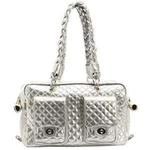 Alex Lux Silver Dog Carrier LARGE