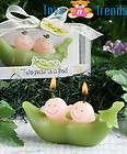 Twins Baby Shower Favour Christening Gift Two Peas In A Pod Candle