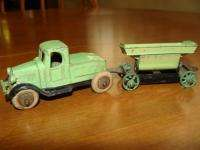 VINTAGE 1930S TOOTSIETOY MACK TRUCK WITH SIDE DUMP WAGON