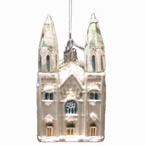 Kurt Adler 5 Inch Noble Gems Glass Cathedral Ornament