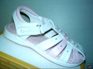 OSH KOSH Girls White Pink Sandals Shoes Toddlers 10 NEW