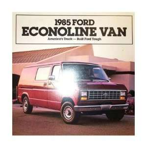 1985 FORD ECONOLINE Sales Brochure Literature Book