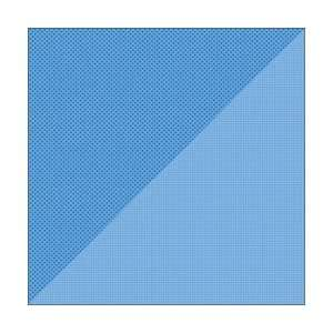 Double Sided Cardstock 12X12 Dot/Grid Blue Jean