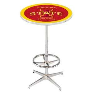 36 Iowa State Counter Height Pub Table   Chrome Base with