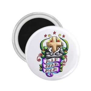 Tattoo Cross RIP MOM Art Fridge Souvenir Magnet 2.25 Free
