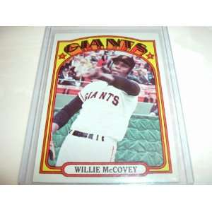 1972 Topps WILLIE McCOVEY San Francisco Giants Everything