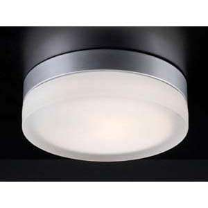 PLC Lighting 6572/CFL Metz Nickel Flush Mount