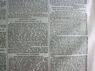 1864 Civil War newspaper SHERMAN MARCH THROUGH GEORGIA Confederate