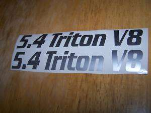 TRITON V8 HOOD STICKER DECAL FORD TRUCK SET OF 2