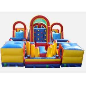 Three Piece Obstacle Bounce House (Commercial Grade) Toys & Games