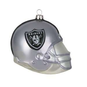 BSS   Oakland Raiders NFL Glass Football Helmet Ornament