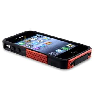 Hard/Silicone Case Cover+Anti Glare Guard for iPhone 4 G 4S