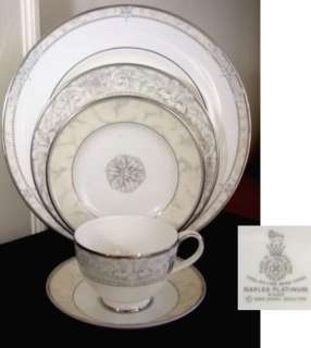 Royal Doulton NAPLES PLATINUM 5 Piece Place Setting NEW