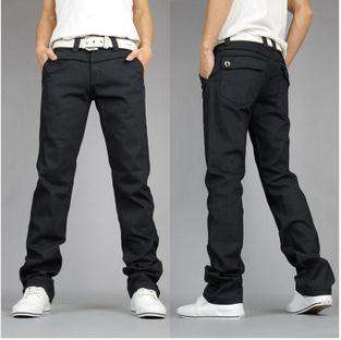 New Mens Korean Style Fashion Designed Casual Slim Fit Pants Trousers