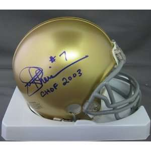 Joe Theismann Notre Dame Fighting Irish NCAA Hand Signed Mini Football