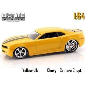 Muscle Yellow 2006 Chevy Camaro Concept 164 Scale Die Cast Car Toys