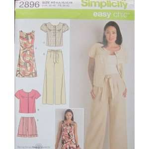 SIMPLICITY PATTERN 2896MISSES/MISS PETITE DRESS, JACKET