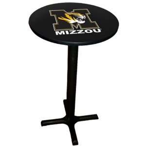 Missouri Tigers Laminated Pub Table with Black Trim & Black x Base