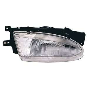 Hyundai Accent Sedan Replacement Headlight Assembly   Passenger Side
