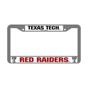Texas Tech Red Raiders NCAA Chrome License Plate Frame