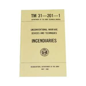 US Army Incendiaries Field Manual Guide Book Sports