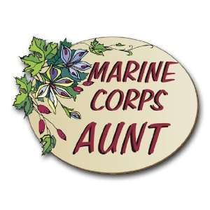 US Marine Pride Marine Corps Aunt Decal Sticker 3.8 6