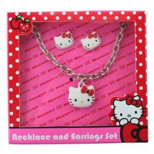 Hello Kitty Necklace and Earrings Set   Hello Kitty